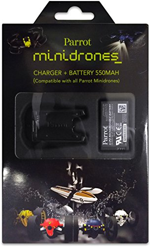 Parrot-External-Battery-Charger-with-USB-Cable-and-550mAh-Lithium-Polymer-Battery-for-Parrot-MiniDrones-Rolling-Spider-and-Jumping-Sumo