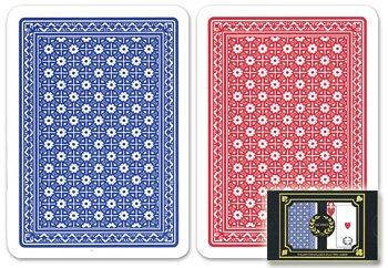 Da Vinci Neve, Italian 100% Plastic Playing Cards, 2-Deck Poker Size Set by Modiano, Jumbo Index (100% Italian Modiano Plastic)