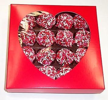 Amazoncom Scotts Cakes Chocolate Valentine Balls 1 Lb Heart Box