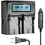Sun room LP-E6 LP-E6N Dual Channel Digital Charger with LCD Display for Canon EOS 5D, 5DS, 5DS R, 6D, 7D, 7DS, 60D, 60D, 70D Camera …