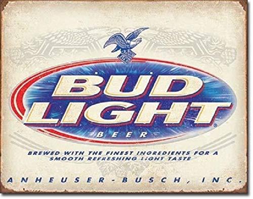 Bud Light Retro Anheuser Busch Budweiser Advertising Wall Decor Metal Tin Sign TIN Sign 7.8X11.8 INCH