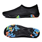 hiking water filter nz WateLves Water Shoes Mens Womens Beach Shoes Swim Shoes Quick-Dry Aqua Socks Pool Shoes For Surf Yoga Water Aerobics (NZ.Black, 40)