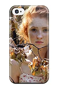 Fashionable AuuKlaG1015qesEK Iphone 4/4s Case Cover For Autumn Fairy Branches Leafs Rust Freckles Redhead Trees People Women Protective Case