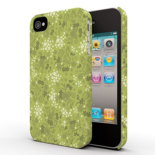 Koveru Back Cover Case for Apple iPhone 4/4S - Green Printed Pattern