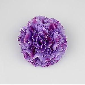 Artificial carnation flower head DIY home /Artificial Silk Flowers Heads/wedding decorative flower 15pcs/lot 8cm (dark purple) 109