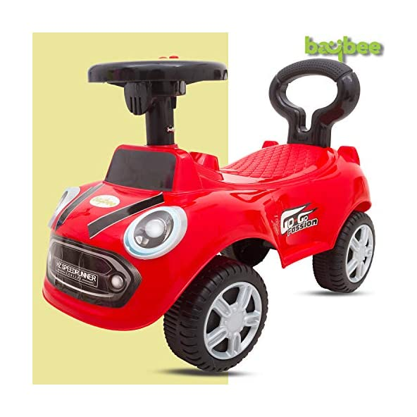 Baybee Cooper Kids Ride On Push Car Toy for Babies-Kids Ride on Toys-Kids Ride On for Children Kids Toy Car Baby Toys 1-3 Years-Twist, Turn, Wiggle for Babies Endless Fun-Kids for Boys & Girls (Red)