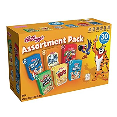 Kellogg's Breakfast Cereal Jumbo Assortment Pack (Single-Serve Boxes, 30-Count) by Kellogg Company - Sortable