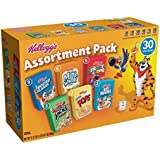 Kellogg's Breakfast Cereal Jumbo Assortment Pack (Single-Serve Boxes, 30-Count)