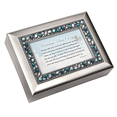 Mommy Don't Cry Bereavement Jeweled Musical Music Jewelry Box Plays Amazing -