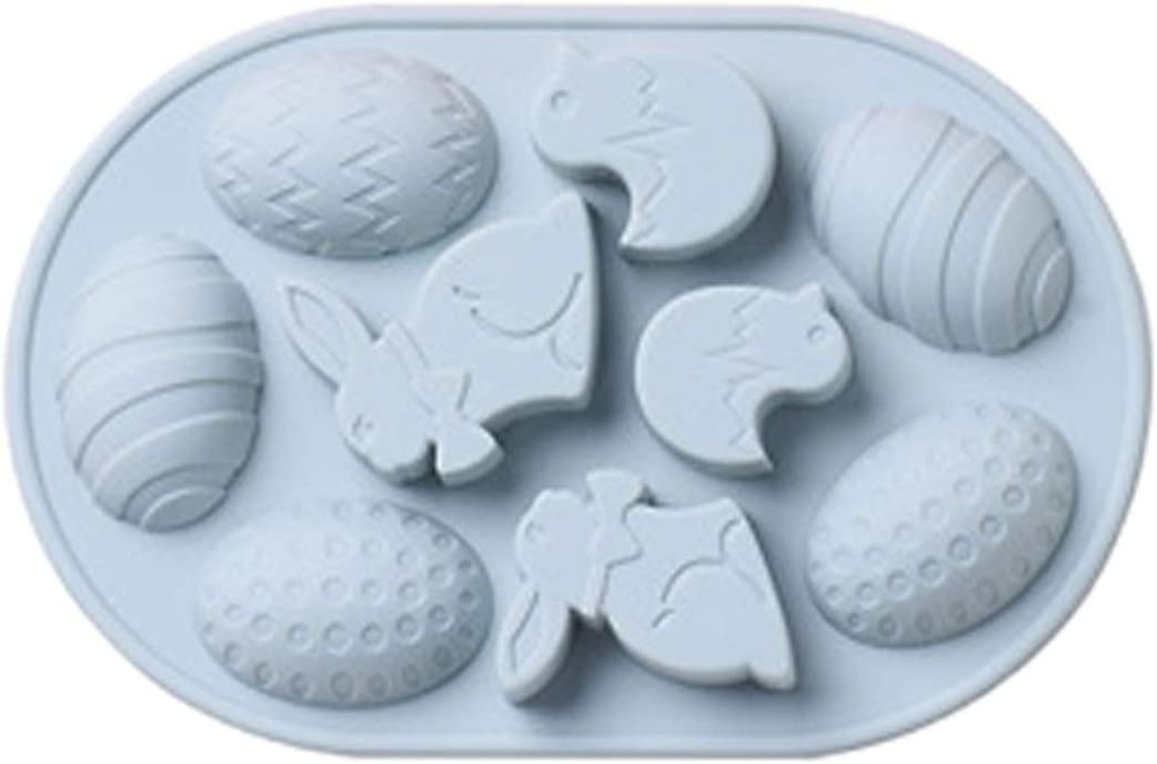 Easter Bunny Egg Shaped Silicone Chocolate Cookie Mold, Baking Molds for Candy Mini Soap, Cake Bread Cupcake Cheesecake Muffin and Jello