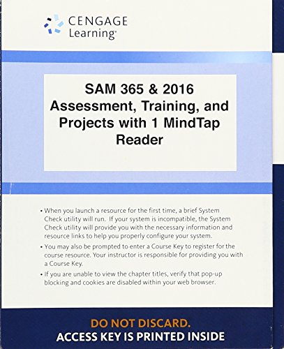 Download PDF LMS Integrated SAM 365 2016 Assessments Trainings And Projects With 1 MindTap Reader 6 Months Printed Access Card Popular Collection By