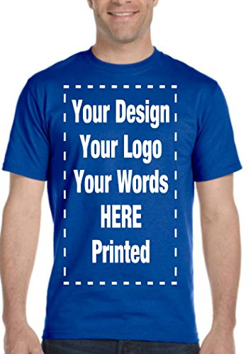 - Custom T-Shirt. Personalized Tee. Add Your Own.Personalized Message. Customize (S, Royal Blue)