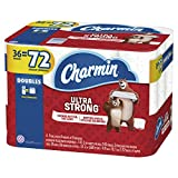Charmin Ultra Strong Toilet Paper, 36 Double Rolls (Equal to 72 Regular Rolls)