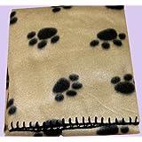 JUMBO SIZE PET BLANKET FLEECE. SUITABLE FOR DOG, PUPPY, CAT KITTEN.CREAM
