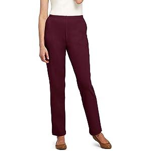 001b3fe00d573 Lands  End Women s Sport Knit Elastic Waist Pants High Rise