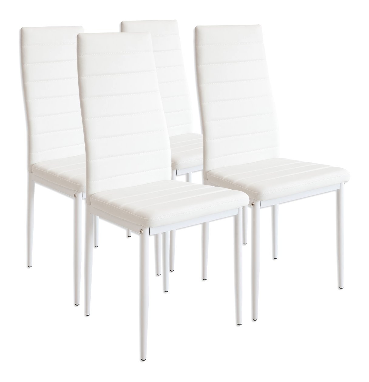 Interesting albatros set di sedie milano bianco with sedie for Sedie design amazon