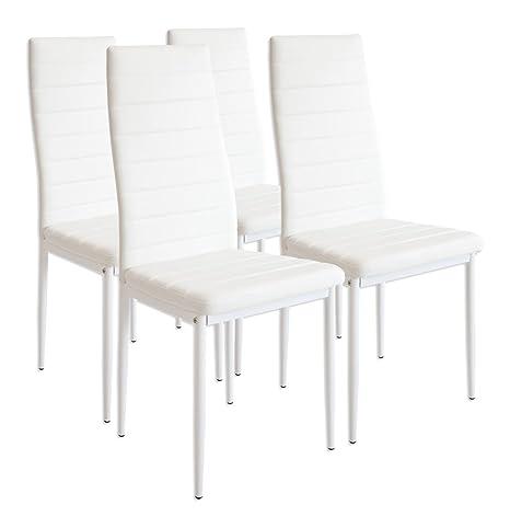 albatros 2552 Set di 4 sedie Milano, Bianco: Amazon.it: Casa e cucina