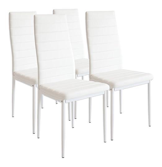 245 opinioni per Albatros 2552 Set di 4 sedie Milano, bianco