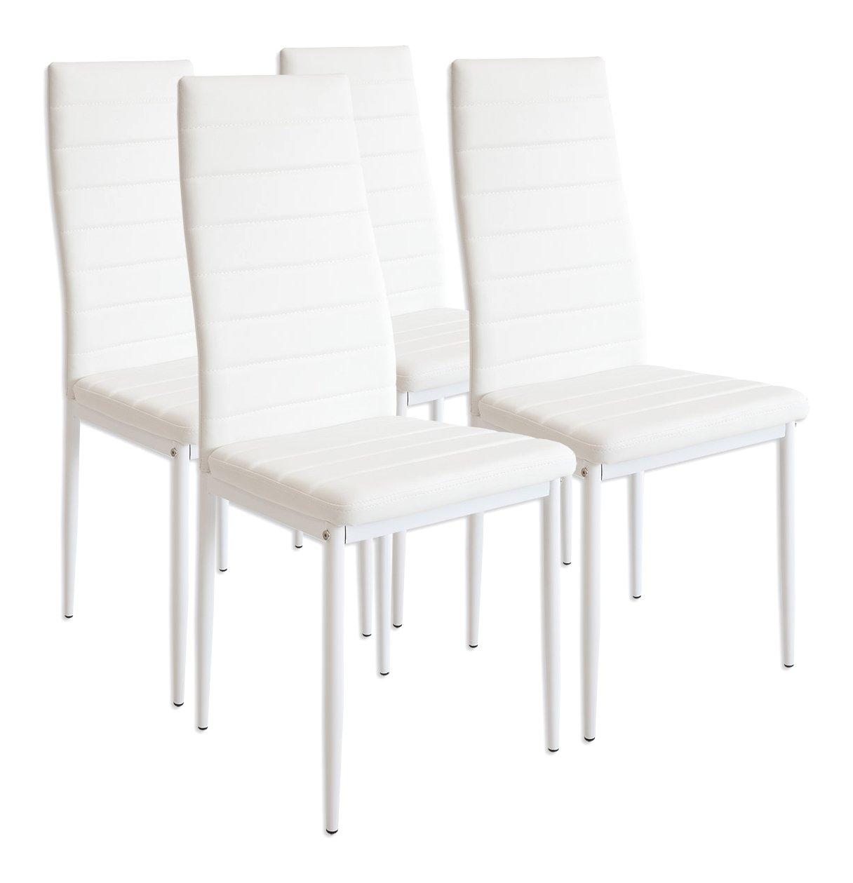Wundervoll Stühle Esszimmer Sammlung Von Albatros 2552 Milano 4 X Esszimmerstuhl, Weiß