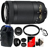 Nikon 70-300mm VR AFP f/4.5-6.3 DX ED Lens + Top Accessory Kit