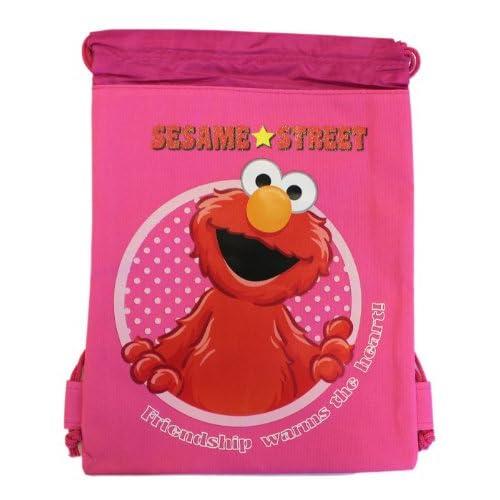 Small Pink Elmo Drawstring Bag - Girls Elmo Drawstring Backpack