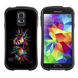 LASTONE PHONE CASE / Suave Silicona Caso Carcasa de Caucho Funda para Samsung Galaxy S5 SM-G900 / Color Splash Skulls Skull