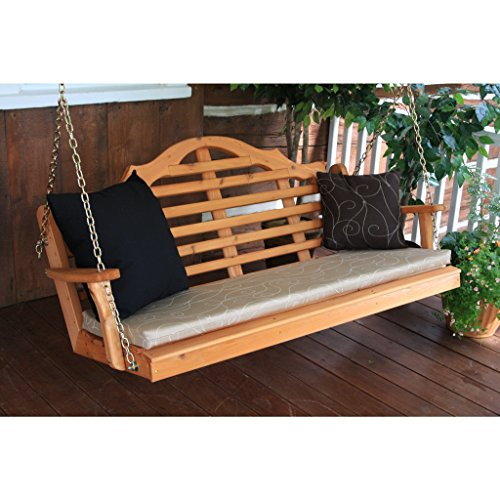A & L FURNITURE CO. Western Red Cedar 4' Marlboro Swing