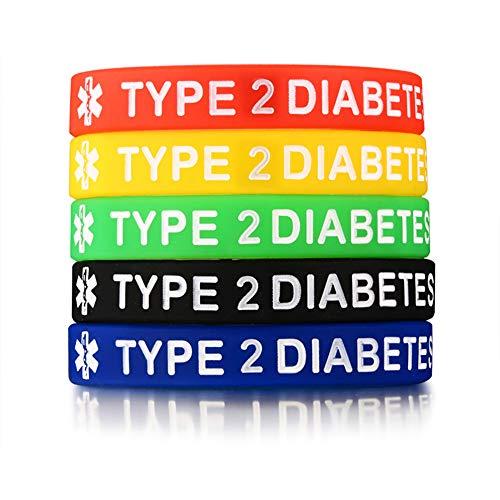 - Jakob Miller 5PCS Blood Thinner Diabetes Warfarin Medical Alert ID Wristband Emergency Silicone Rubber Bracelet Set