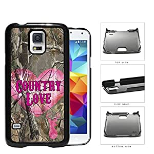 Camo Tree Pink Heart & Deer Head Country Love Samsung Galaxy S5 SM-G900 Hard Snap on Plastic Cell Phone Cover by Maris's Diary