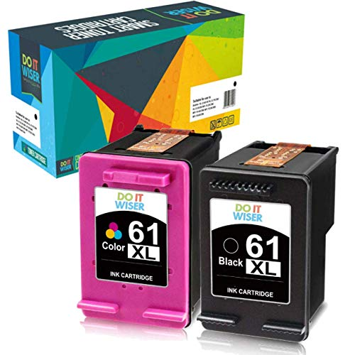 Do it Wiser Compatible Ink Cartridge Replacement for HP 61XL