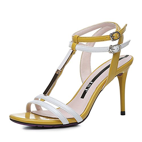 f94d27f3 Lovely ZHIRONG Sandalias de verano Roma de las mujeres de moda elegante  punta abierta en forma ...
