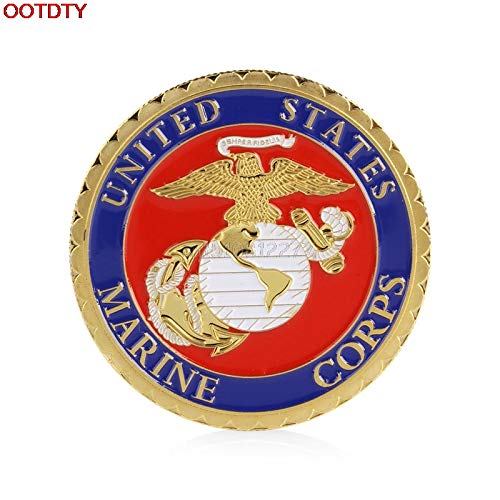 (Non-currency Coins - Coins United States Marine Corps Gold Plated Commemorative Coin Collectible Physical Gift H0vh - Coin Coin Coin July Unit Coin Of Coin Bracelet Gold Uni Coin Medal Coin)