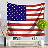 Izielad US United States of America Flag Wall Hanging Tapestry
