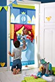 HABA Doorway Puppet Theater - Space Saver with Adjustable Rod Fits in Most Doorways