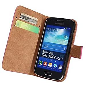 WEV Genuine Leather Full Body Case with Strap and Sticker for Samsung Galaxy Ace 3 S7270 S7272 S7275 , White