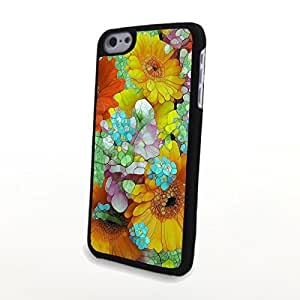 linJUN FENGGeneric PC Phone Cases Liveliy Flowery Charming Flowers Matte Pattern fit for Cute Colorful iphone 6 plus 5.5 inch Case