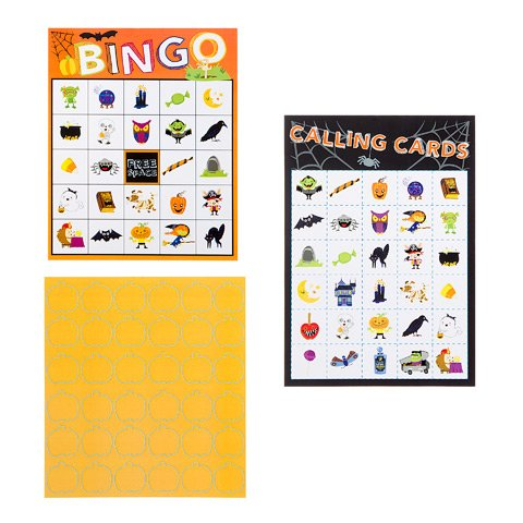 Halloween Bingo Party Game Foamies Adults Kids