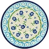 Polish Pottery Saucer 5-inch Blue Bursts