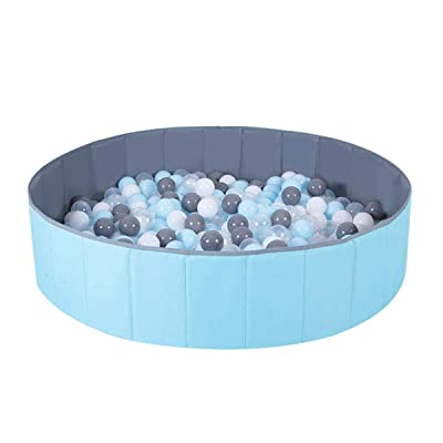 non Baby Kids Play Ball Pit Pool Children Safety Fence Pool Play Tent Pool Pit Toys for Home Baby Room 31.5in x 31.5in x 10.2in: Toys & Games