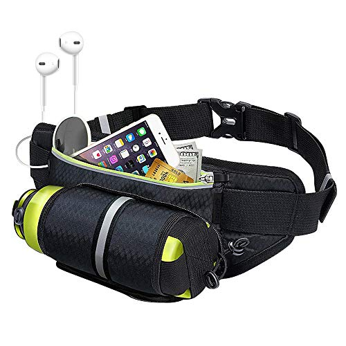 - SAYGOGO Running Bag with Water Bottle Holder, Water Resistant, Adjustable Belt and with Independent Compartment. it's Very Convenient for You to Carry Mobile phons, Keys, Cards.