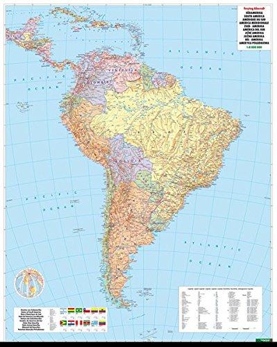 Südamerika Politisch, 1:8 Mio., Poster, plano in Rolle, freytag & berndt Poster + Markiertafeln