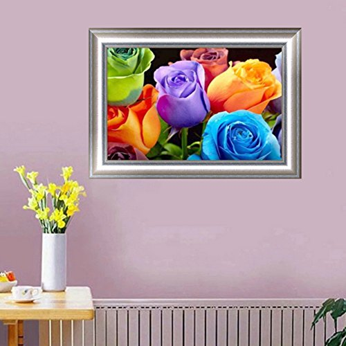 Mingo Colorful Rose Flower 5D DIY Diamond Painting Of Crystals Embroidery Needlework Cross Stitch For Wall Home Deor