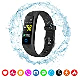 Lixada Fitness Tracker HR,Activity Tracker Watch with Heart Rate Monitor,IP67 Water Resistant Smart Bracelet with Calorie Counter Pedometer Watch for Android and iOS
