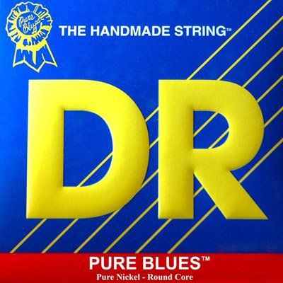 Wrap Pure Nickel Guitar Electric - DR Strings Pure Blues Pure Nickel Wrap Round Core 12-52