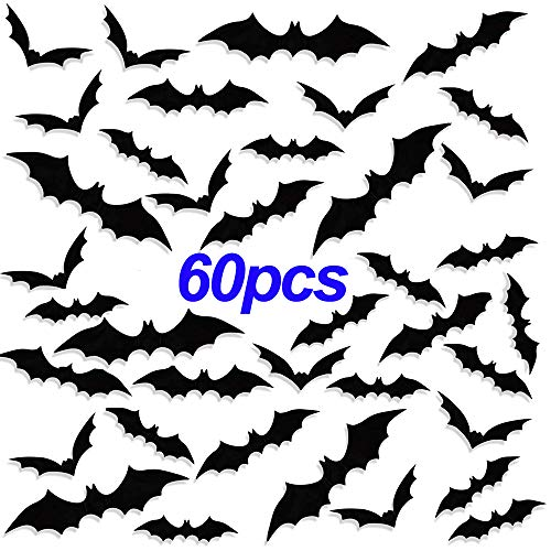 Diy Halloween Mantel Decor (DIY Halloween Decoration PVC 3D Decorative Wall Window Decals Sticker Black Bats Decor for Home Halloween Eve Party Suppliers)