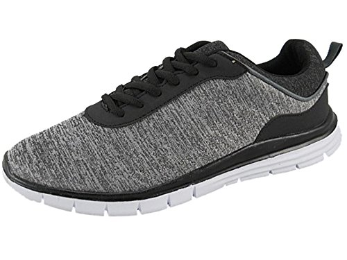Airtech Mens Ultra Lightweight Lace up Sports Fitness Gym Running Casual Trainers Size 7-12 Grey 08AtCT7