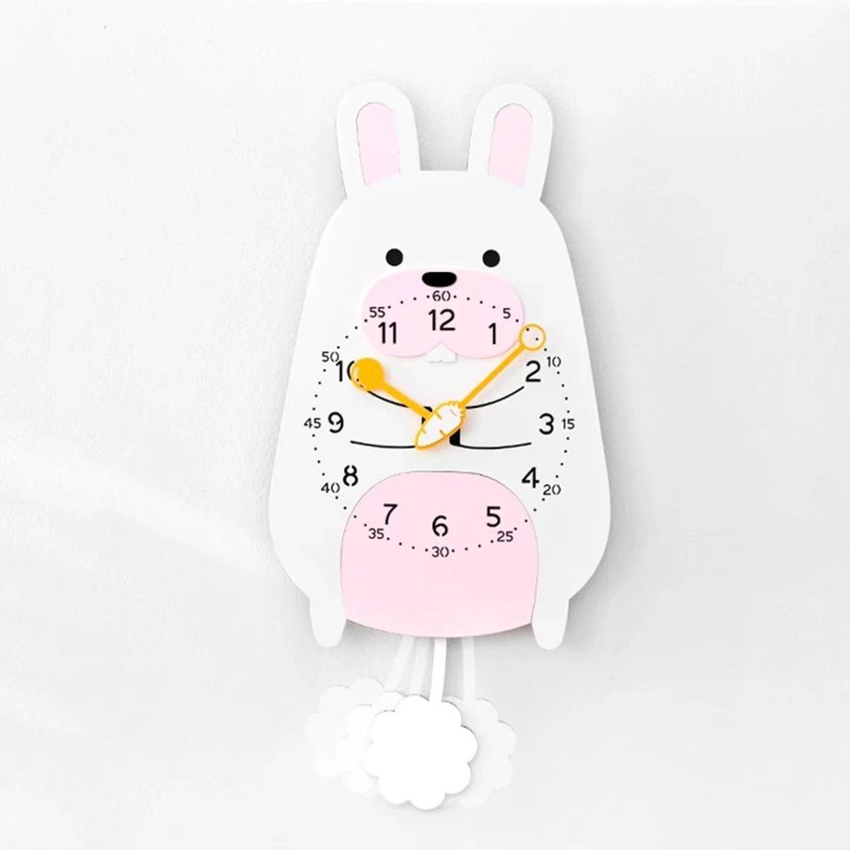 子供部屋用 動物 フラワ クロック おしゃれ デザイナーズ掛け時計 可愛い かわいい 静音 掛時計 壁掛け EBODONG B07CW86M5Zタイプ7