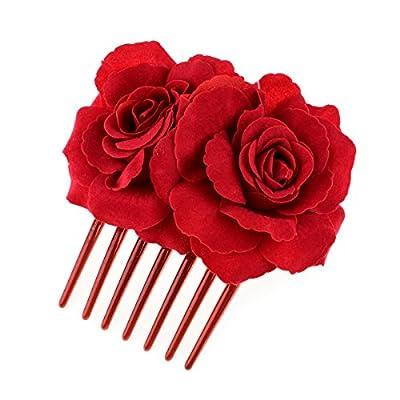 RoyaLily Vintage Flamenco Dancer Rose Flower Hair Comb Bridal Hair Accessories FJ-08