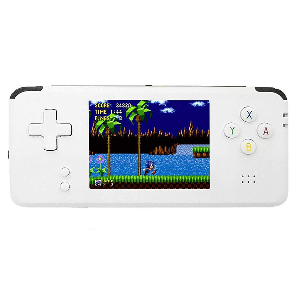 Littleice RS-97 Portable Handheld Game Console Retro Game Console 16GB 3000 Classic Games Player (White)