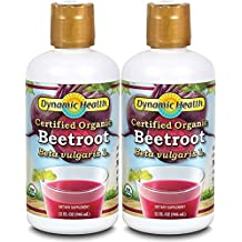 Dynamic Health Organic Certified Juice, Beetroot, 32 Fluid Ounce (Pack of 2)